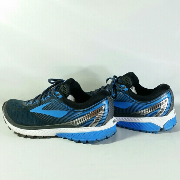 5a7d2ab90db Brooks Other - Brooks Ghost 10 Road Running Shoes Black Blue Slvr